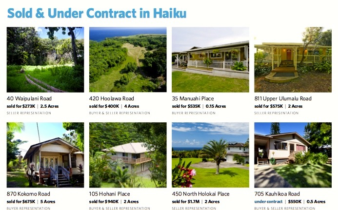 Sold and Under Contract in Haiku