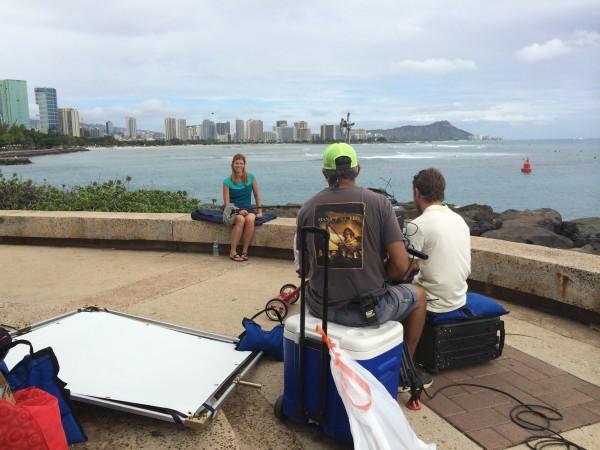 Interview at Kaka'ako Waterfront Park