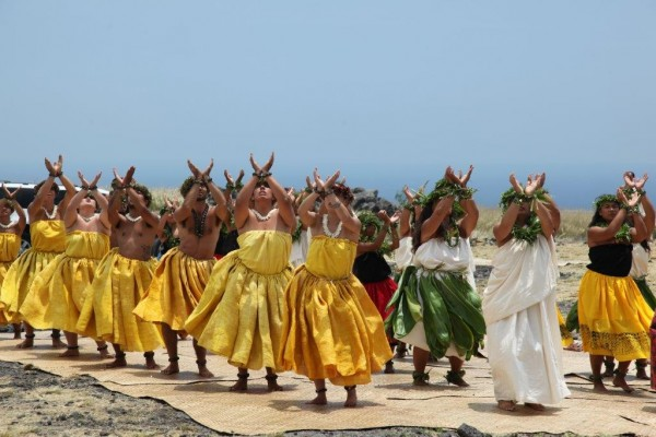 Hula with mele to the spirit of the land, ocean, and sky - Photo credit to Janet Wells Brown