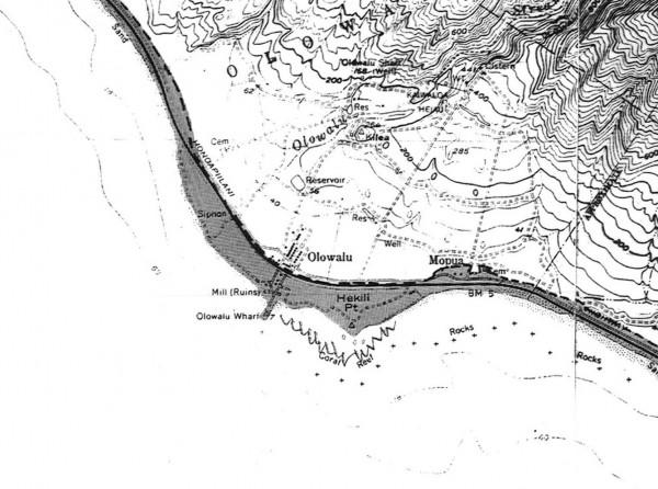 Olowalu SMA map portion