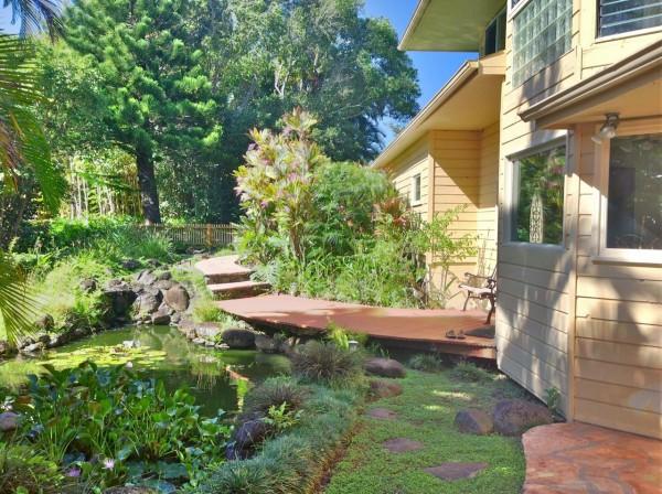 The lily pond at 455 Kukuna Rd. Haiku Maui HI. 96708