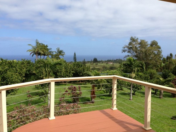 The ocean view from 455 Kukuna Rd. Haiku Maui HI. 96708
