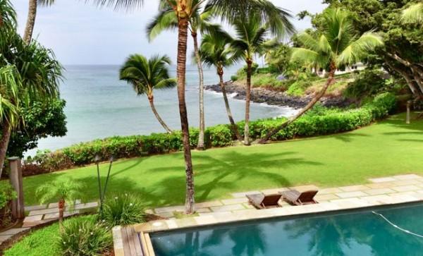 Oceanfront Kuau Maui home for sale