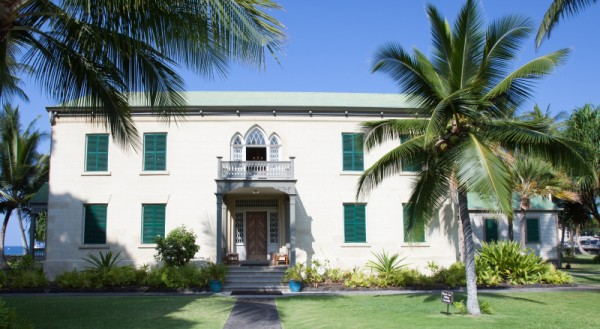 "Hulihe'e Palace built by High Chief ""John Adams"" Kuakini in 1838, Kailua, Kona."