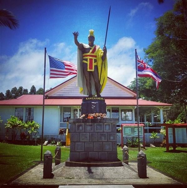 King Kamehameha III Statue Kapaau, North Kohala, Hawaii