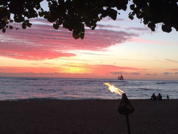sunset kaimana beach