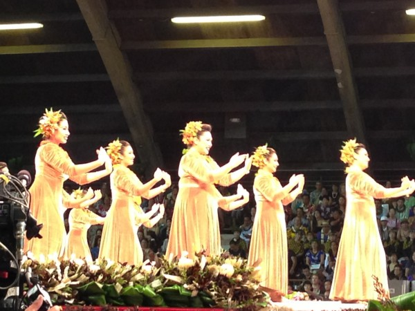 Beautiful Hula Dancers at the annual Merrie Monarch Festival in Hilo