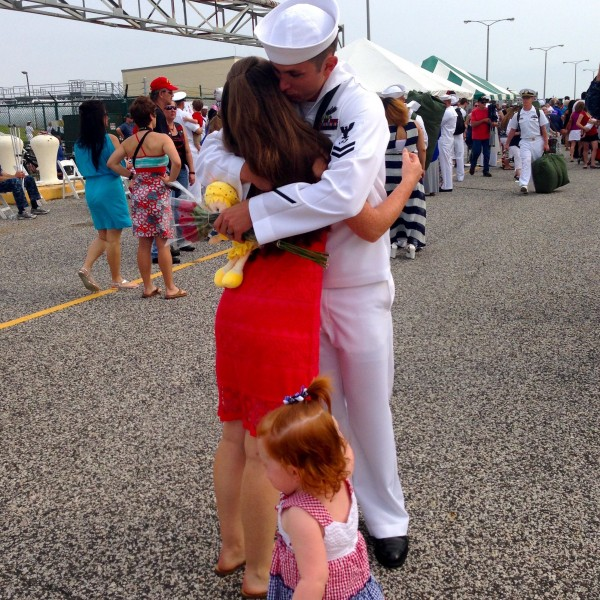 Nephew-in-law, homecoming 2014, US Navyy