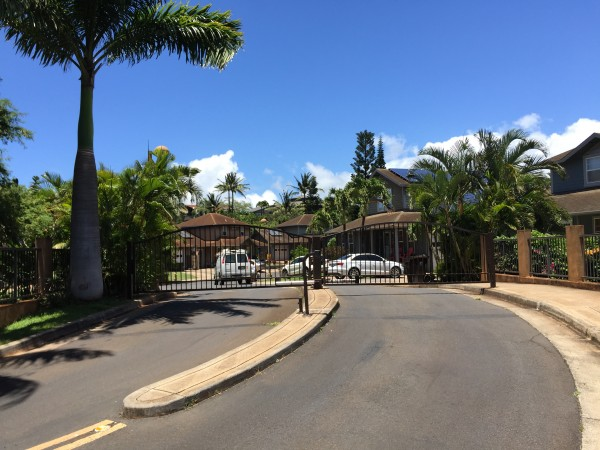 The Gated entrance to Hoaka Pl is just off L Honoapiilani Rd and provides privacy, safety and security