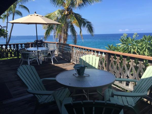 Ocean Front Lanai View in Kona 77-8586  A  Alii Drive (MLS 285429)