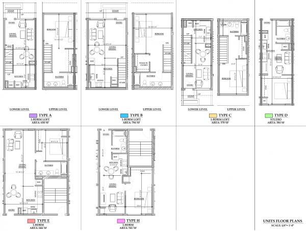 803 Waimanu, Floor Plans