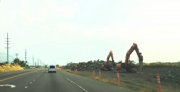 Headed south into Kona on current single-lane highway.