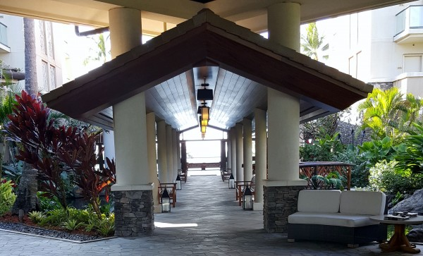Entrance to the Montage Residences at Kapalua Bay