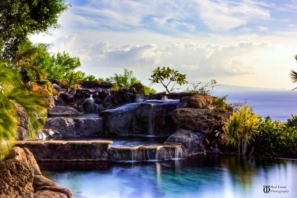 Kohala Ranch home with pool and waterfall