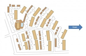 Site Plan with Arrow