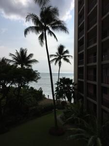 View from 4th floor unit towards Kahana Bay beach