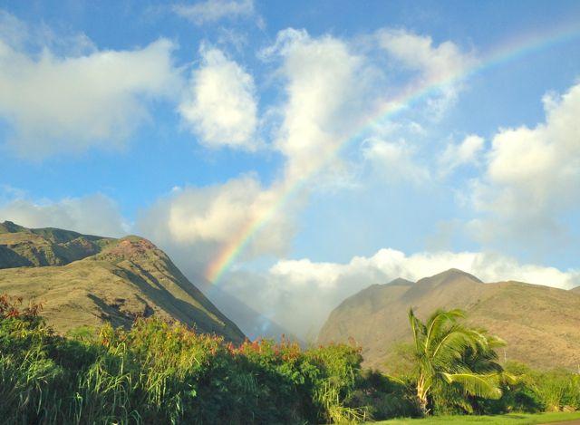 A Maui rainbow seen from Olowalu Mauka