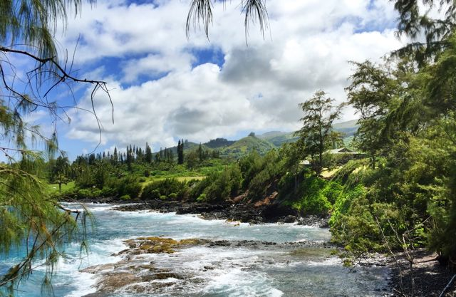 Kaihalulu Bay in Hana Maui