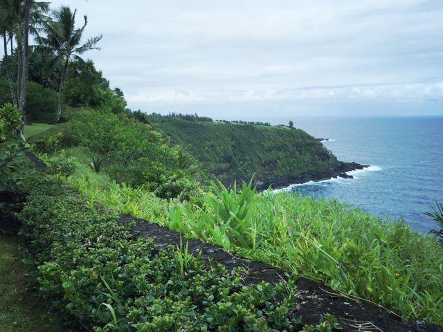 The coastline in Huelo, Haiku Maui