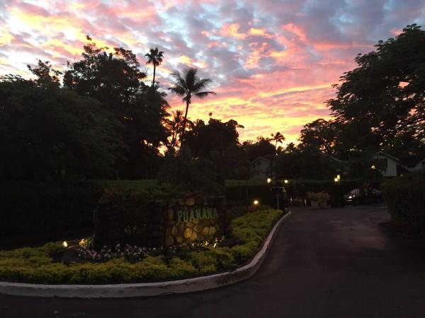 Puamana Entrance Sunset