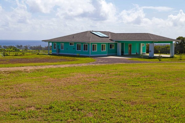 Ocean view home on 14 acres