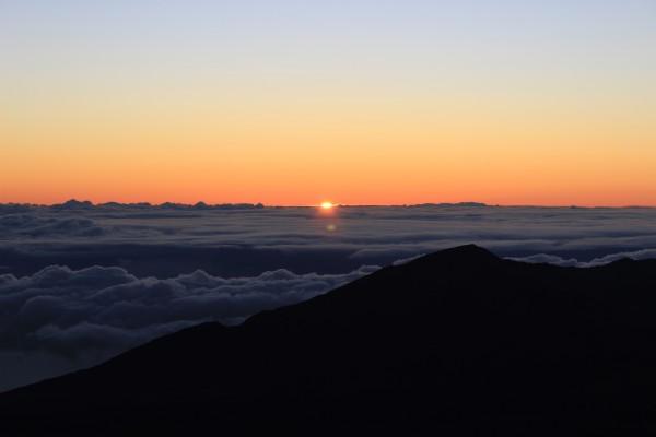 Early morning sunrise over Haleakala
