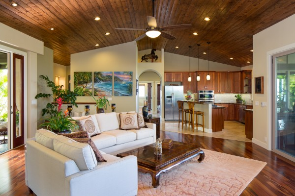 You'll find high-end finishes throughout this spacious home at the top of Iolani subdivision along the Kona Coast.