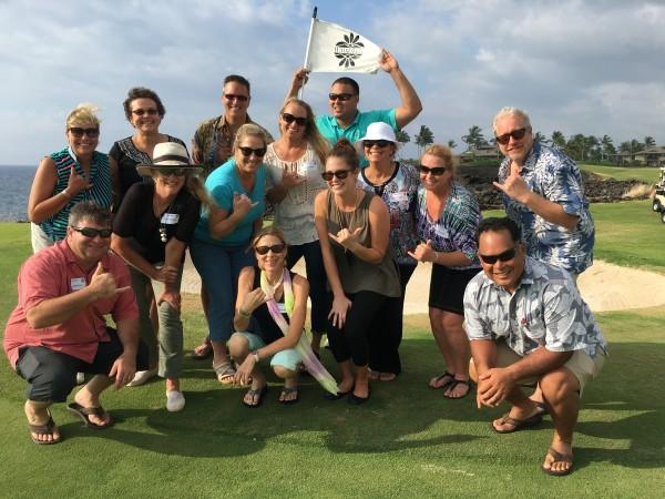 Hawaii Life Kohala Coast Office agents on Waikoloa Kings Golf Course