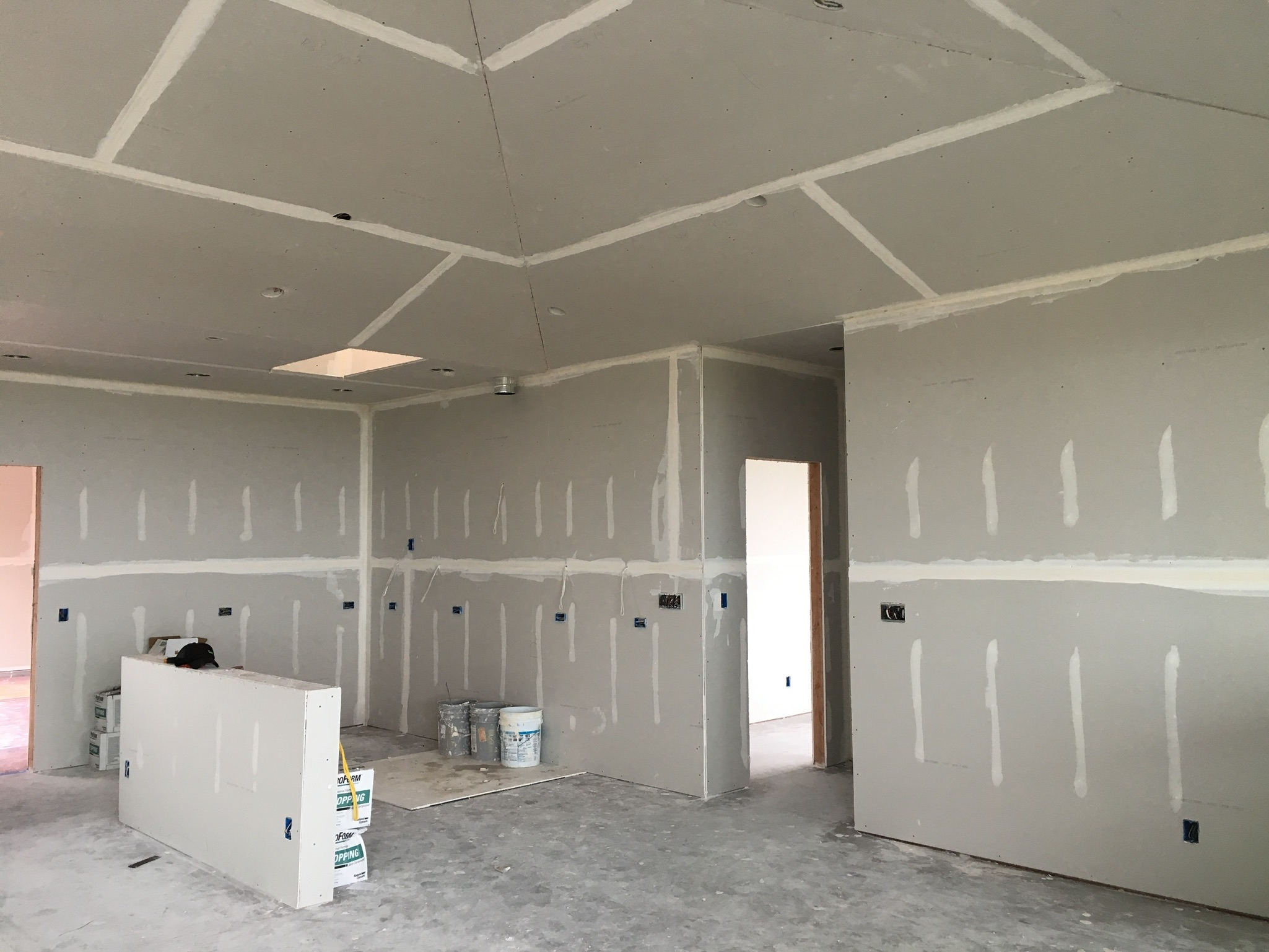 Interior of a home with drywall
